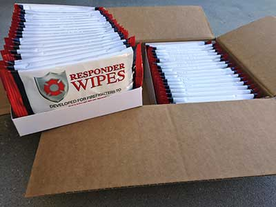 XL Chief's Wipes for firefighter decontamination